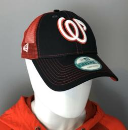 Washington Nationals Adjustable Hat - New Era 9Forty Navy/Re