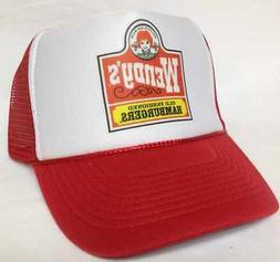 Wendy's TRUCKER HAT Mesh hat Snap back hat red