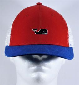 Vineyard Vines Whale High Profile Patriotic Trucker Snapback