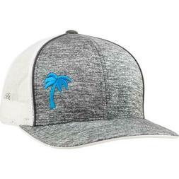 White/Grey, Snapback, Lindo Lids Palm Tree Trucker Hat