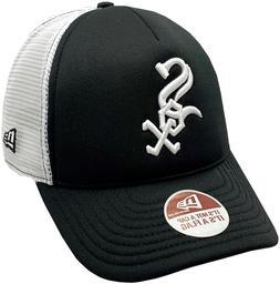 White Sox Trucker Mesh Fitted Hat 2-Tone Black/White