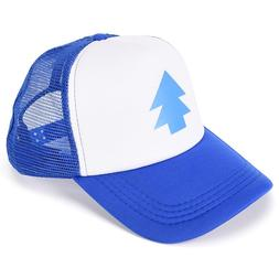 Women Men <font><b>Trucker</b></font> Baseball Cap Pine Tree