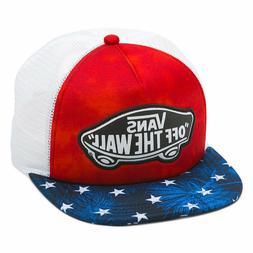 sale retailer 0f2ed 41997 Vans Women s Beach Girl Trucker Hat Cap - American Flag