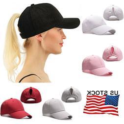 Women's Snapback Ponytail Baseball Caps Adjustable Messy Hig