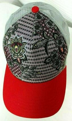 Womens PRANA Idalis Trucker Hat Cap Floral Mesh Snapback Yog
