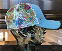 Womens PRANA Idalis Trucker Hat/Cap Floral Mesh Snapback Yog