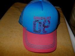 ROXY WOMENS  SNAPBACK OSFA (truckin}  MESH HAT BLUE/PINK  NW
