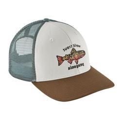 Patagonia World Trout Brook Fish stitch Trucker Hat Mid Crow