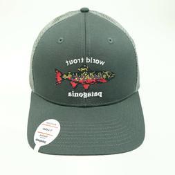 Patagonia World Trout Brook Fishstitch Trucker Hat Mid Crown