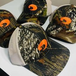 COSTA DEL MAR XL STRUCTURED MOSSY OAK CAMO TRUCKER CAP HAT B