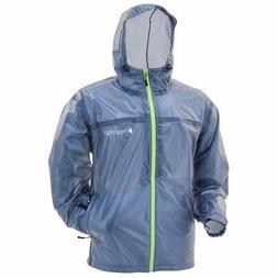 Frogg Toggs Xtreme Lite Rain Jacket, Blue/Hi-Vis, X-Large