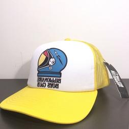 BILLIONAIRE BOYS CLUB Yellow White Space Helmet Logo Snapbac