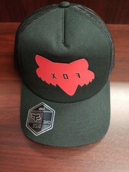 Fox Racing Youth Traded Trucker Hat Black Red Snapback