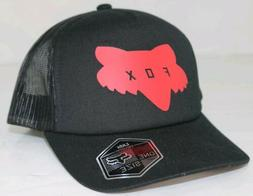 Fox Racing Youth Traded Trucker Hat Black Red Snapback  $25