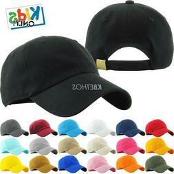 Youth Trucker Hat Ball Cap Kids Blank Plain Classic Junior B