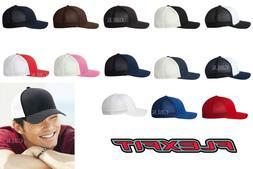 Yupoong Flexfit Trucker Cap 6511 Fitted Mesh Baseball Hat NE
